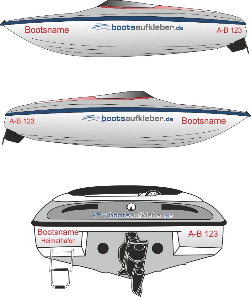 W w w b o o t s a u f k l e b e r d e beispiel for Bootsaufkleber design